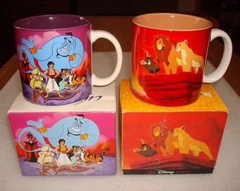 Two Different Collectible Ceramic Disney Mugs / Coffee Mugs With Original Boxes (SOLD SEPERATELY)