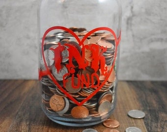 Ink Fund - Adult Piggy Bank - Savings Jar - Money Box - Tattoo Savings - Large Coin Bank - Mason Jar - Fun Gift - Tattoo Fund
