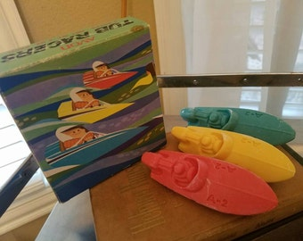Avon vintage Tub Racers, 3 bath soaps, box