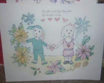 Bun-bun and Olga Paper doll set