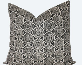 Decorative Designer Lacefield Atlas, Granite Pillow Cover, Grey 18x18, 20x20 or Lumbar Throw Pillow