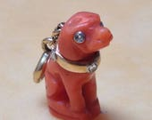 Antique Faberge Style Dog Charm