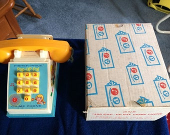Fisher Price #150 POP UP PAL Chime Phone with Box