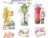 1 Roll Limited Edition Washi Tape: European Mailboxes
