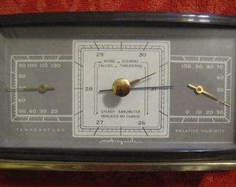 Mid Century Airguide Desk / Shelf Weather Station - Barometer - Humidity - Temp