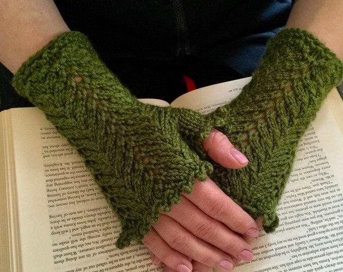 Jane Austen Fingerless Mitts, Lacework Handwarmers