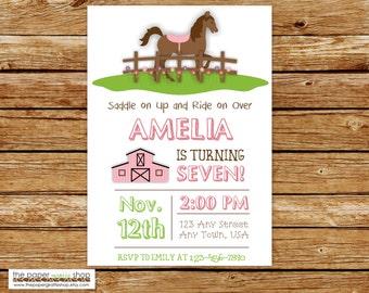 Horse Invitation | Horse Birthday Invitation | Horseback Riding Invitation | Horse Riding Birthday Party | Horse Party