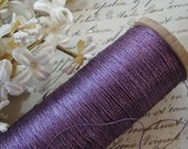 3y Antique French 3-Ply Royal Purple Early Round Twist Metal Metallic Embroidery Thread Floss Restoration Ribbonwork Vestment Handwork