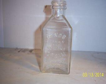 1930's AS Hinds Homey and Almond Cream  Bloomfiled, NJ Skin lotion medicine 6 3/8 inch clear bottle