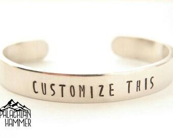 "Custom 3/8"" Aluminum Cuff Bracelet"