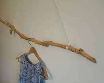 "Driftwood Piece- 44 1/2"" Clothes Rack, Clothes Display, Curtain Rod, Photo Prop for Beach Wedding Dress, Towel Rack/Rod, Wall Hanging - L281"