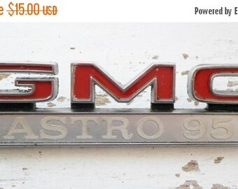 ON SALE Vintage, GMC, Astro 95, Car, Emblem, Automobile, Parts, Restoration, Chrome, Gm Part # 646467, for Years 1967-1968-1969-1970-1971-19