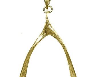 Wishbone Charm Pendant Necklace