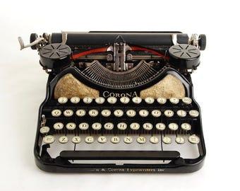 Black Gold Typewriter, Corona Four