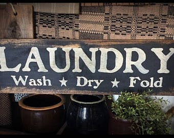 Grubby prim sign-Laundry
