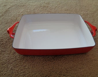 Vintage Dansk Kobenstyle Baking Pan in Red