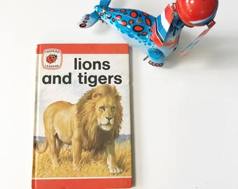 Vintage 1970s Children's Ladybird Leaders Book Lions and Tigers, Series 737