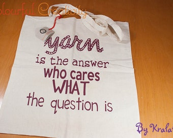 Tote bag - Yarn is the answer