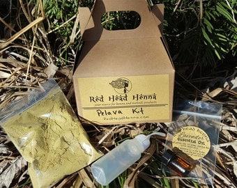 Pelava Kit - Pregnancy Mini Henna Kit - Sensitive Skin  - Your Quick Start Henna Kit for Beautiful Natural Temporary Tattoos Baby Belly