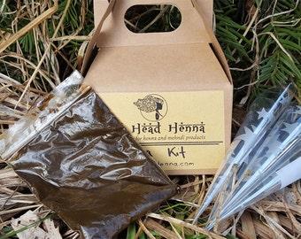 Druta Henna Kit - Express Henna Kit  - Ready to go Henna kit - Premixed henna paste kit - includes prerolled cellohpane cones