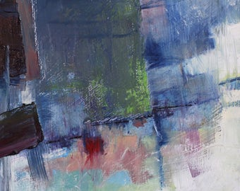 "Original Abstract Oil Painting,  ""Return"" , 12""x9"", by  artist John Kelley"