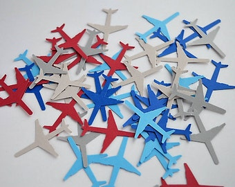 100 pieces Airplane - Die Cuts - Scrapbooking Embellishments - Table Scatter
