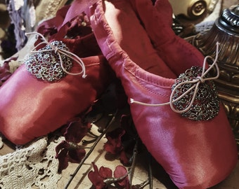 The Red Shoes....Vintage Ballet Pointe Shoes by Freed of London