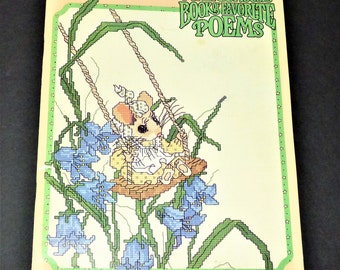 1981 A Merry Mouse Book Of Favorite Poems Cross Stitch Book/Patterns