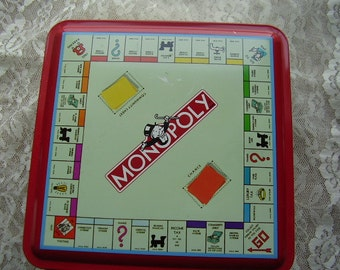 Vintage MONOPOLY Collectible Tin/1997