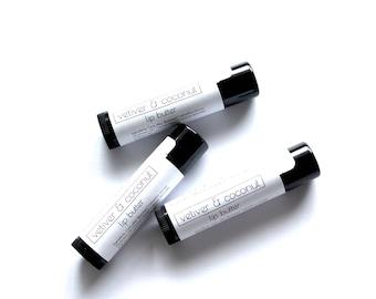 Organic Lip Butter | Vetiver & Coconut | Handmade | .15 oz tube | Gift for Her