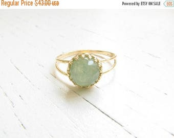 Mothers Day Sale - Jade ring - Natural Jade ring, Jade gemstone ring - Gold ring - Gold Jade ring - Gemstone ring - Jade jewelry - Green rin
