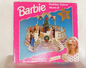Vintage BARBIE Holiday Dance Musical 30 Classic Songs Original Packaging WORKS Collectible
