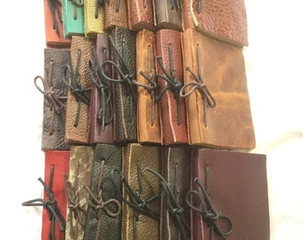 2 Handmade Leather Journals