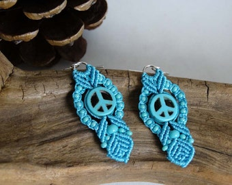Let there be Peace Signs earrings