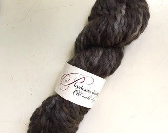 45% Off Super Bulky Phydeaux Designs Crepe Wool Yarn Hand Dyed Steel 4 oz 70 yards