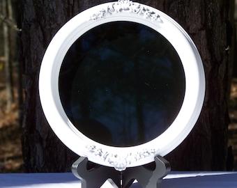 Round White Scrying Mirror 7 inch Round