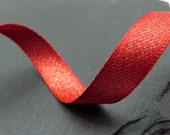 Red And Gold Sparkly Double Sided Christmas Ribbon 10mm