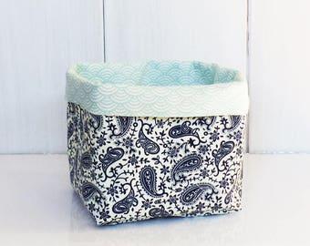 /Panier of storage fabrics cashmere wrap blue / green water waves