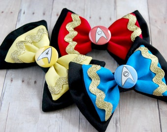 To Boldly Go! Trek Bows // Spock, Captain Kirk, Uhura, Space