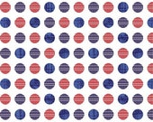 4th of July Fabric, Cotton Yardage, Quilting Fabric, Red, White, Navy Blue, Dot Fabric, Fat Quarters, Fabric By The Yard, Quilts of Valor