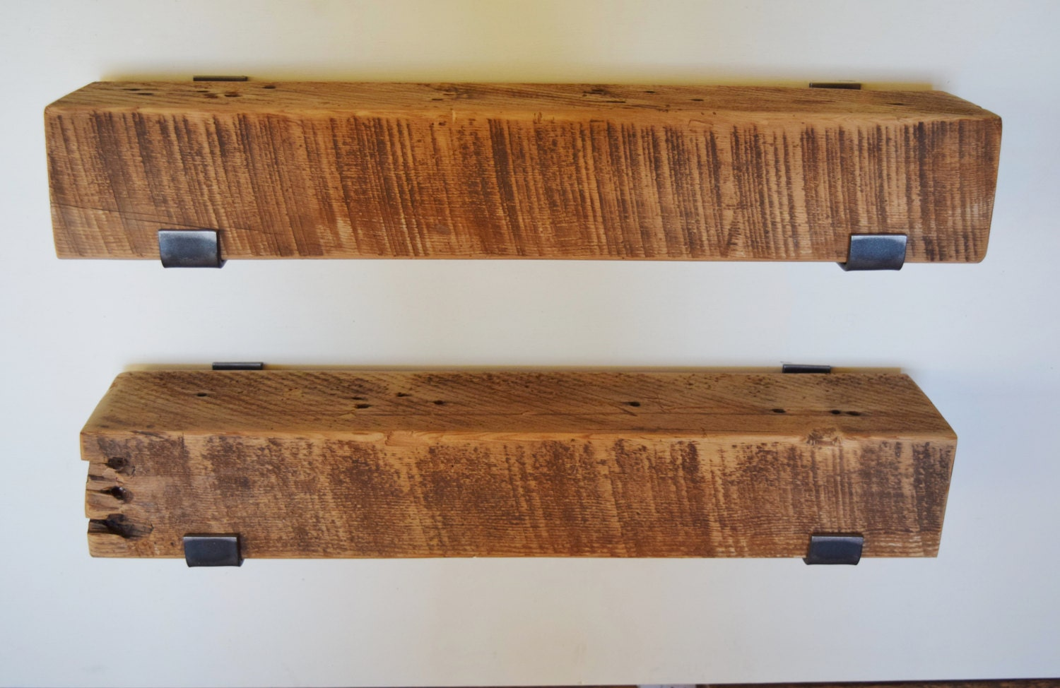 Two Reclaimed Wood Shelves 24 X 5 X 4