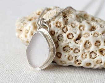 Light Lavender Sea Glass Pendant - Natural Sea Glass, Genuine Sea Glass - Sea Glass Necklace, Sea Glass Jewelry