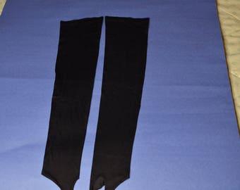 Vintage Very Long Black Fingerless  Gloves