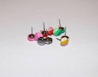Ombre Stud Earrings, Titanium Stud Earrings, Hypoallergenic Earrings