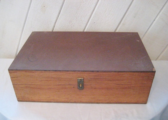 Extra Large Wood Box Storage Letter Box Hinged Lid Small