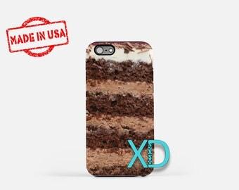 Chocolate Cake iPhone Case, Food iPhone Case, Cake iPhone 8 Case, iPhone 6s Case, iPhone 7 Case, Phone Case, iPhone X Case, SE Case