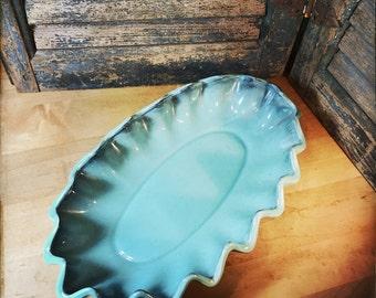 Crown Ceramics Vancover BC 1950s Ruffled Bowl