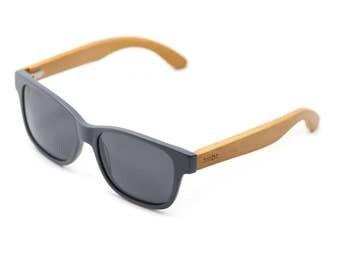 Wooden Sunglasses Gray Handmade Wooden Wayfarer Indie Retro Ray-Ban Bamboo Sunglasses - Raw - WAR1