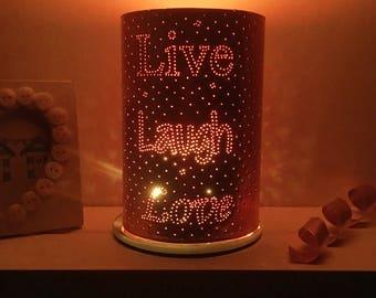 Live Laugh Love , copper home decor, copper anniversary gift, copper lantern, 7th anniversary, home lighting, live, laugh, love