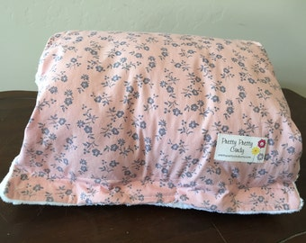 Pink Cornflower Blue Flowers Breastfeeding Nursing Pillow